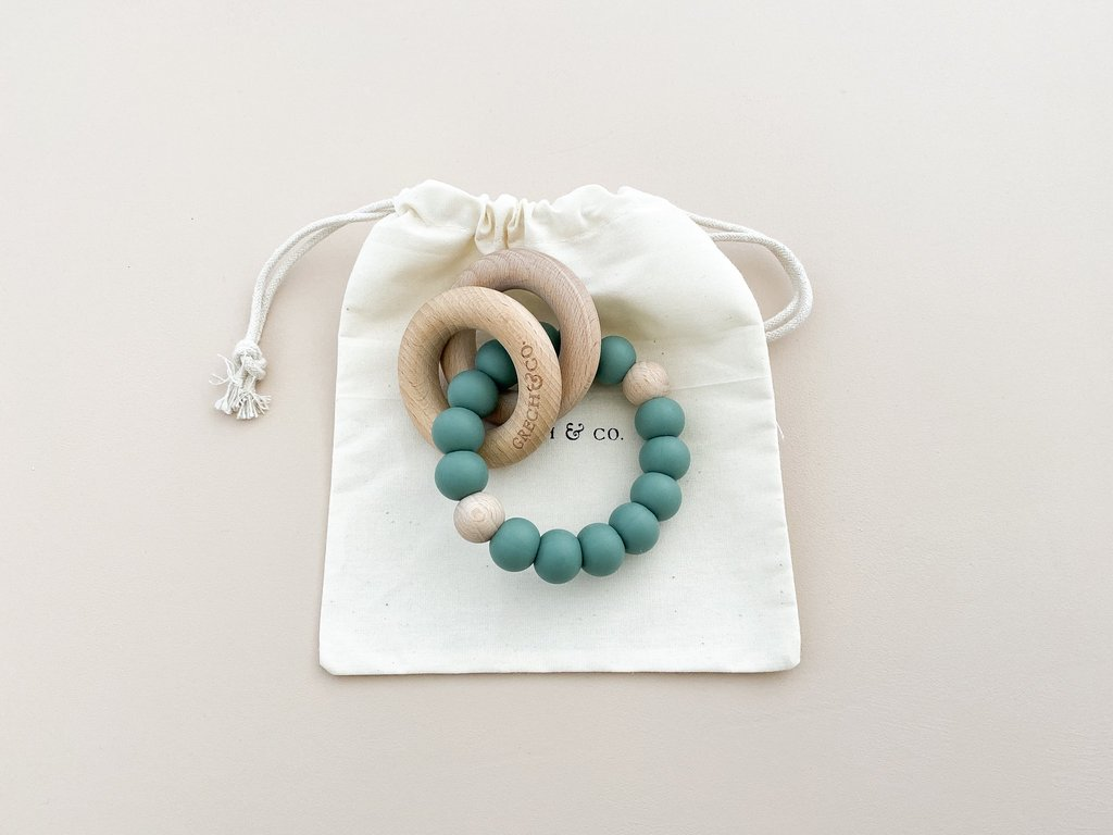 Grech Co. - teether ring - Aventurine