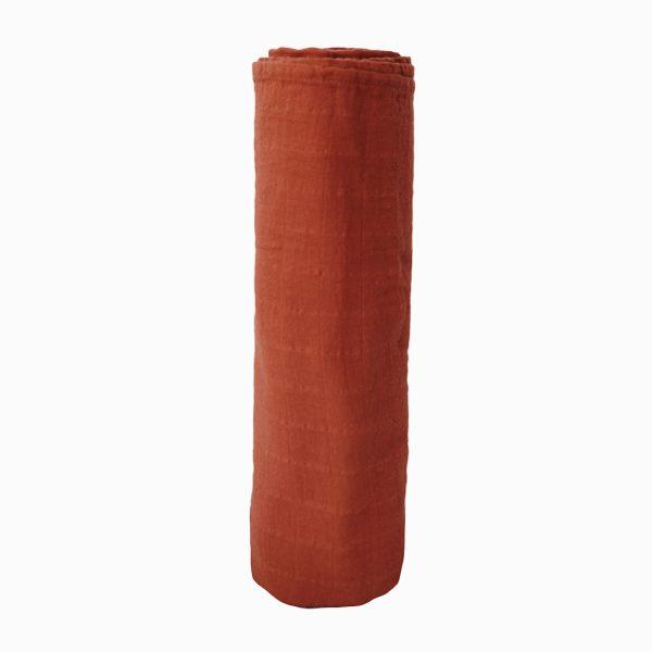 Mushie Swaddle Blanket - Auburn alt