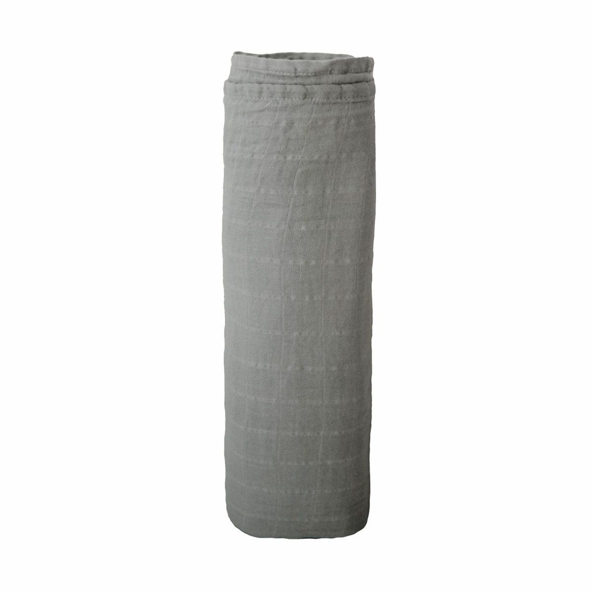 Mushie Swaddle Blanket Belgian Grey alt