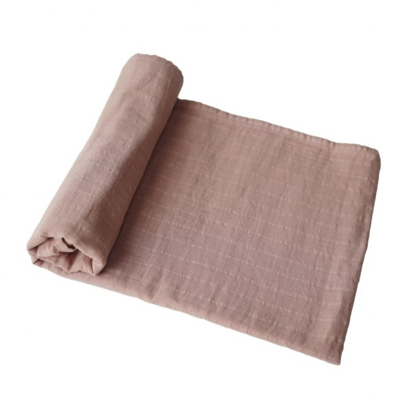 Mushie Swaddle Blanket Natural