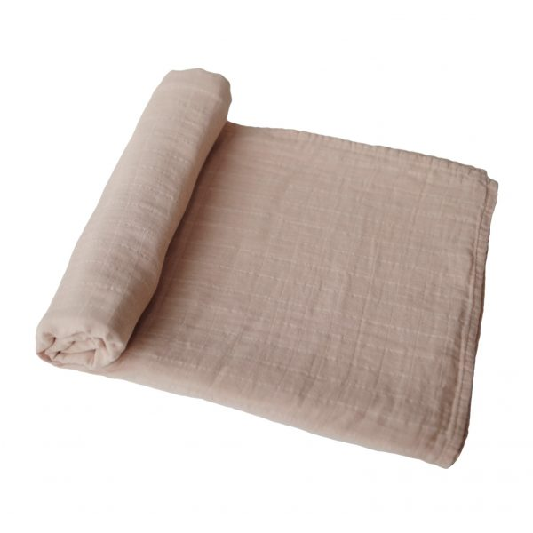 Mushie Swaddle Blanket Pale Taupe