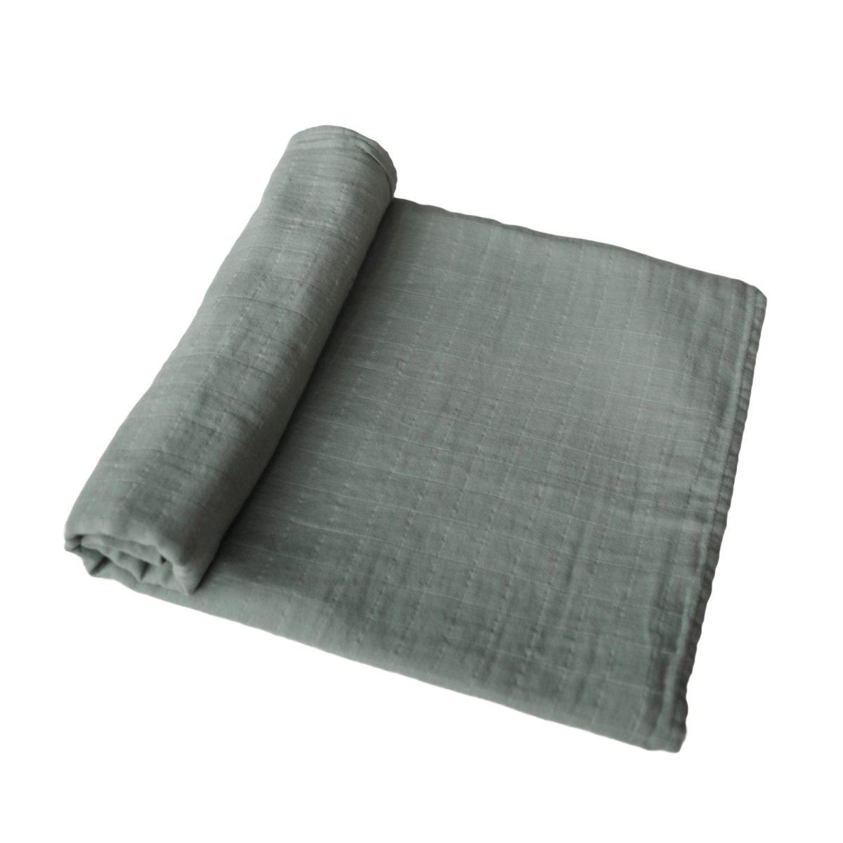 Mushie Swaddle Blanket - Roman Green