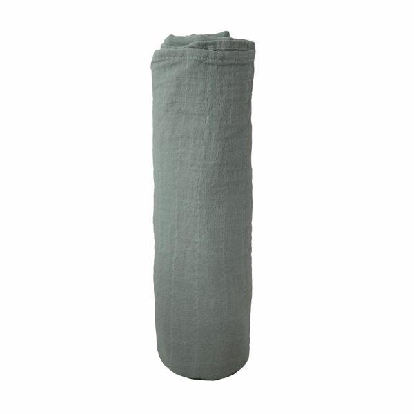 Mushie Swaddle Blanket - Roman Green alt