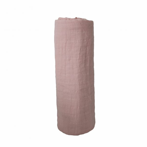 Mushie Swaddle Blanket - Rose Vanilla alt