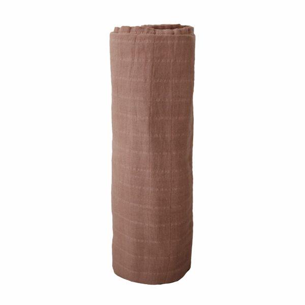 Mushie Swaddle Blanket Tawny Birch alt