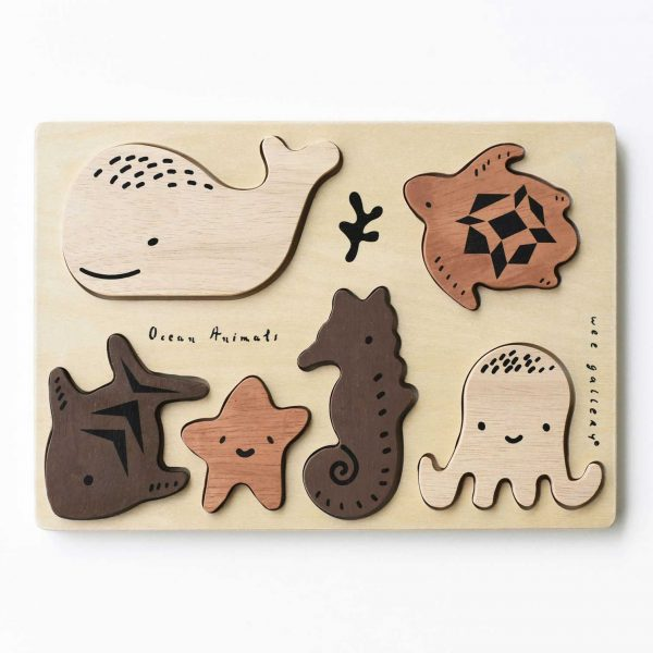 Wee Gallery Wooden Puzzle Ocean