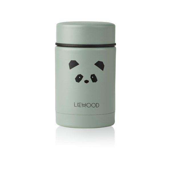 Liewood Nadja food jar Panda Peppermint
