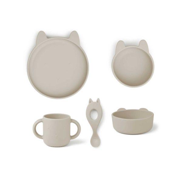 Liewood Set Vivi Dinnerware Rabbit Sandy