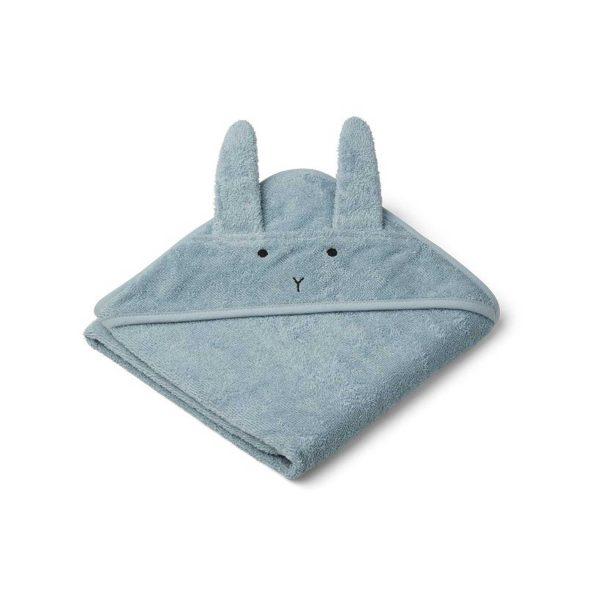 Liewood Towel Rabbit Sea Blue