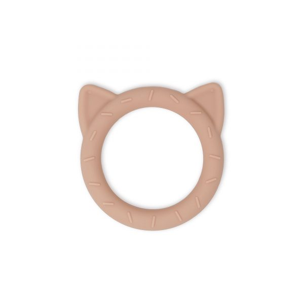 Mushie teether cat blush