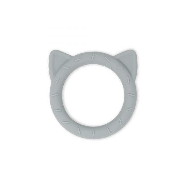 Mushie teether cat stone
