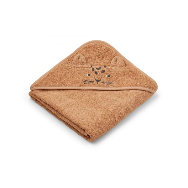 Liewood towel leopard apricot