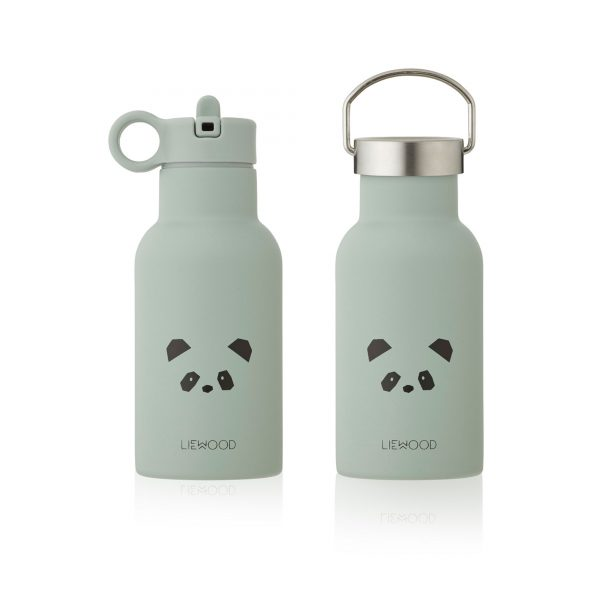 Liewood water bottle Panda Dusty Mint