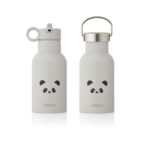 Liewood water bottle Panda Light Grey