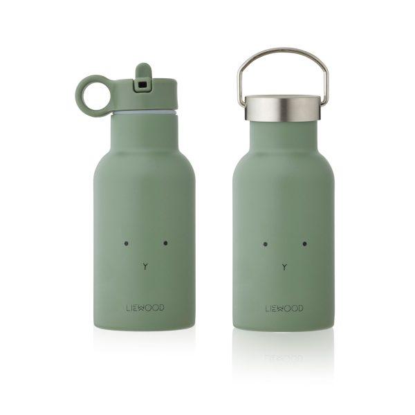 Liewood water bottle Rabbbit Faune Green