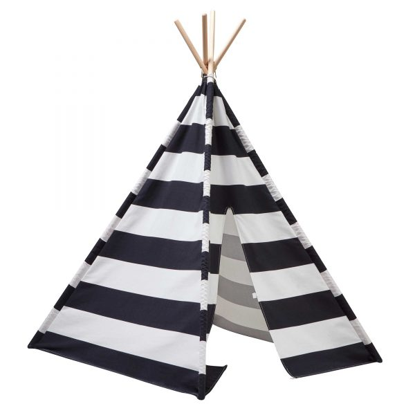 Kids Concept Tipi Tent Black White