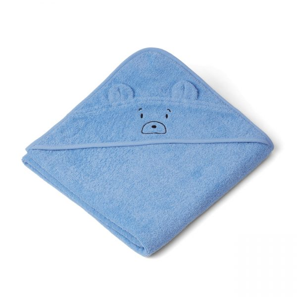 Liewood towel bear sky blue
