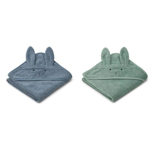 Liewood towels rabbit blue mix