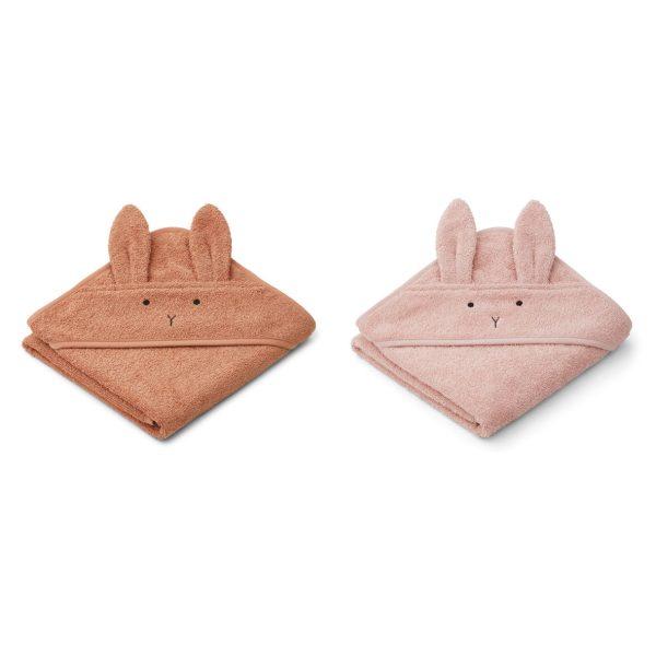Liewood towels rabbit tuscany rose mix