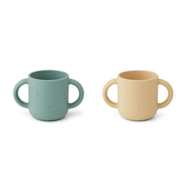 LIEWOO Gene Silicon Cups Peppermint Wheat Yellow